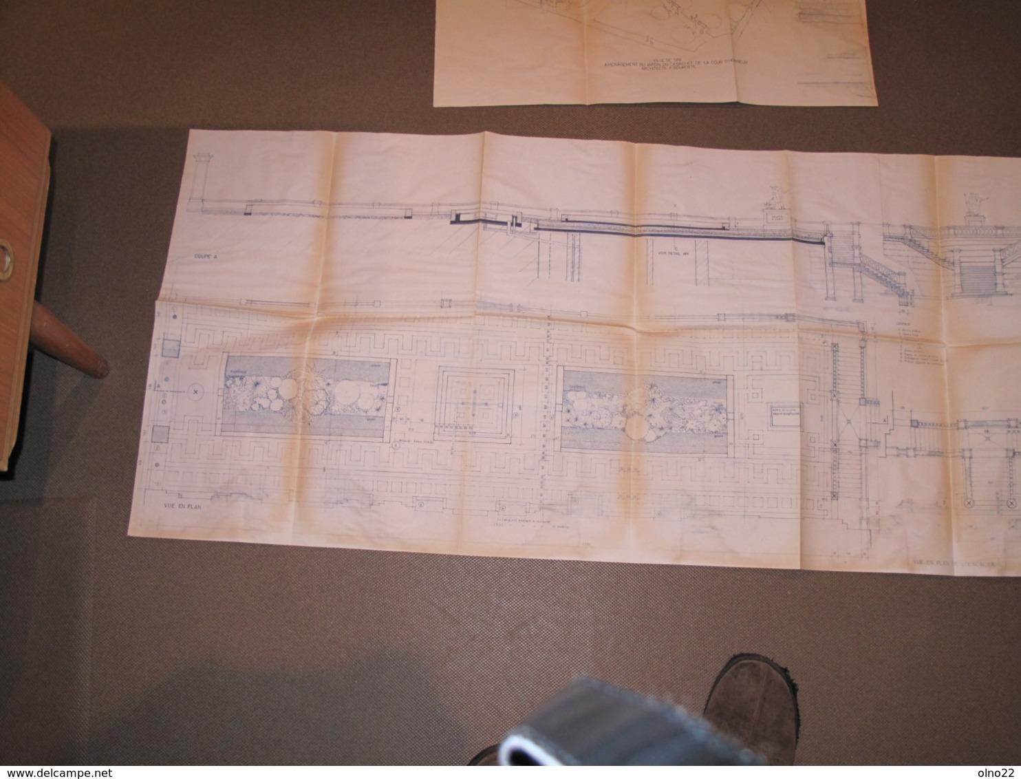 SPA - PLANS RESTAURATION JARDINS ET COUR D'HONNEUR DU CASINO-1992-ARCH. FRANCOIS BOUROTTE - Architecture