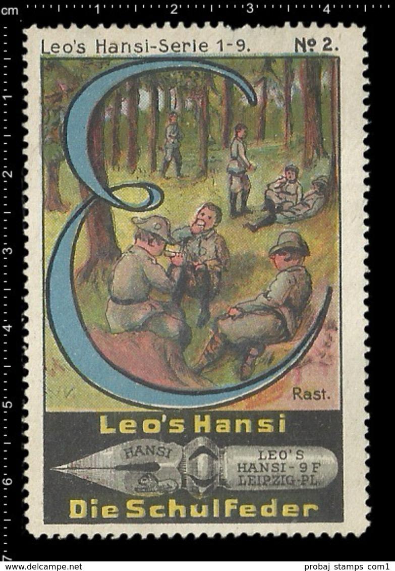 Old Poster Stamp Cinderella Reklamemarke Erinnofili Vignette Scout Erkunden Rast Rest. - Other