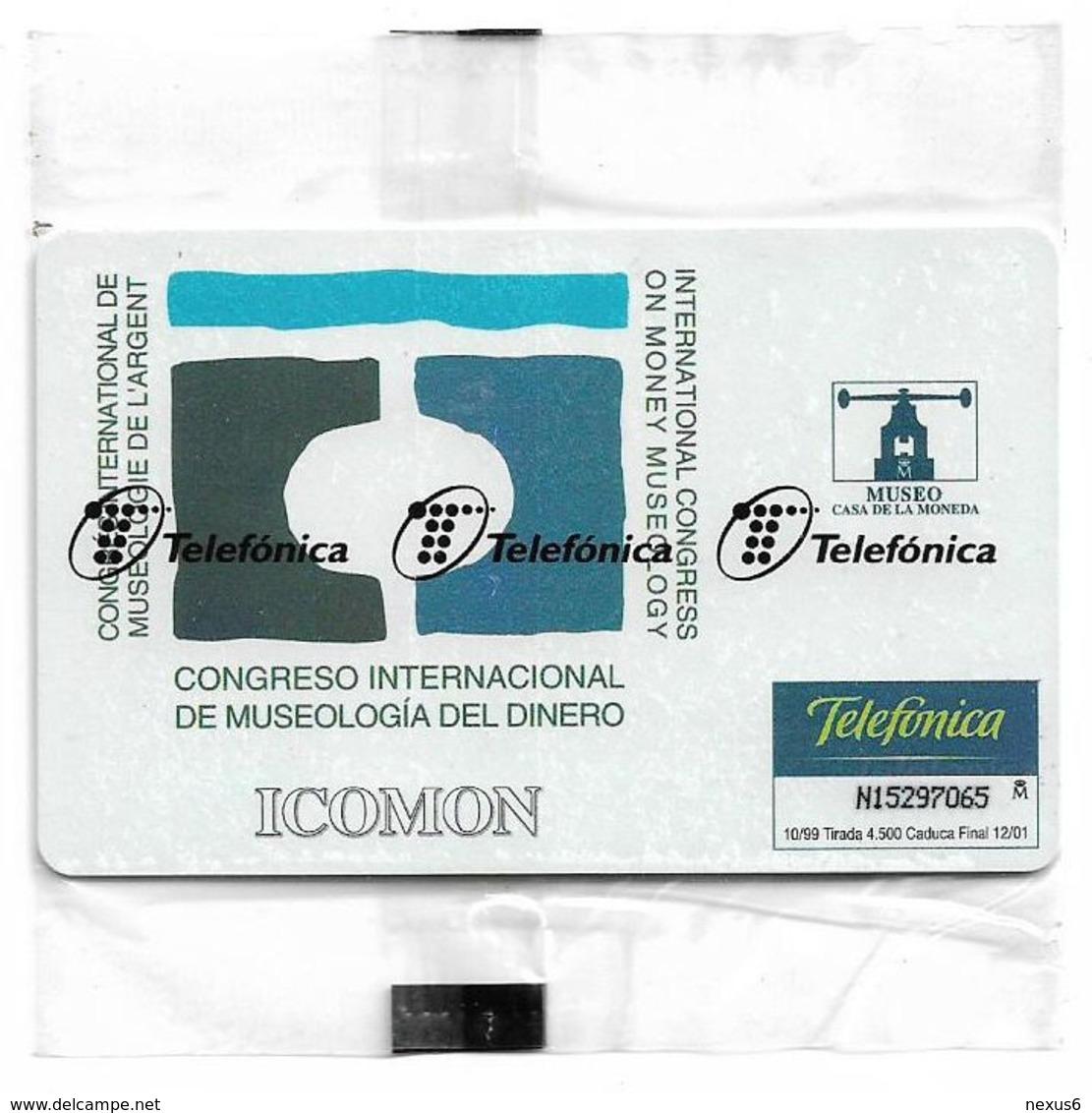 Spain - Telefónica - Congreso Internacional De Museologia - P-401 - 10.1999, 500PTA, 4.500ex, NSB - España