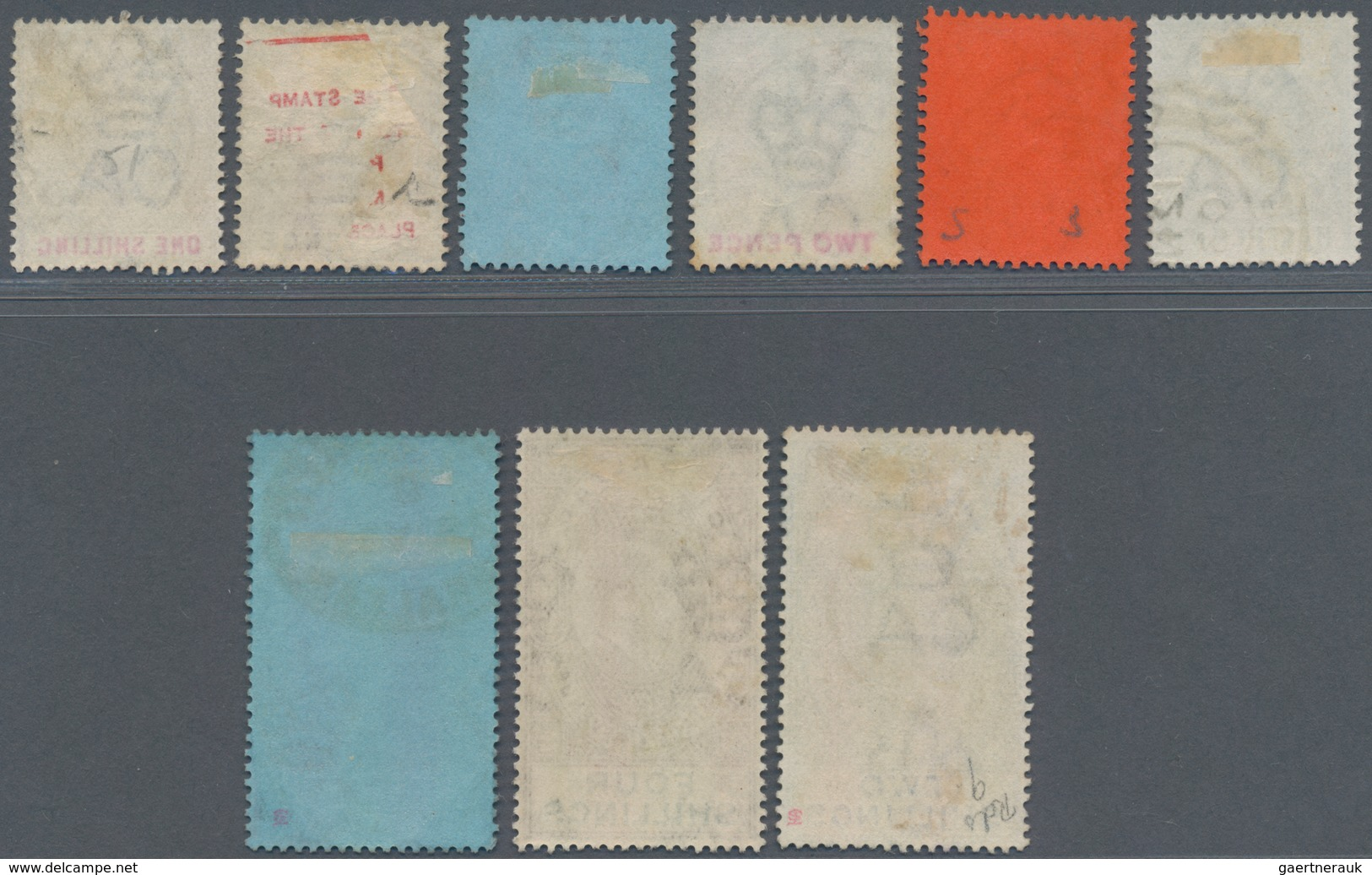 Gibraltar: 1903 KEVII. Short Set Of Nine Up To 8s., All Used, The Top Values Canclled By Gibraltar R - Gibilterra