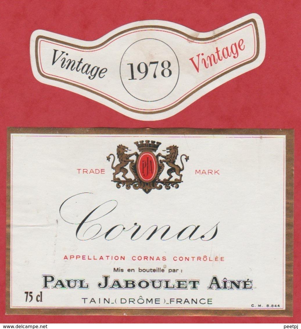 Etiquette -France - Cornas - 1978 - Vintage - Etiquettes
