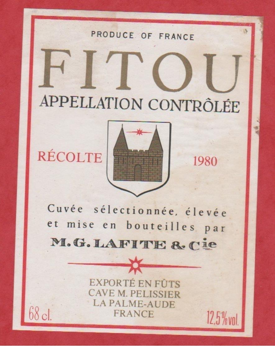 Etiquette -France - Fitou - 1980 - Lafite - Etiquettes