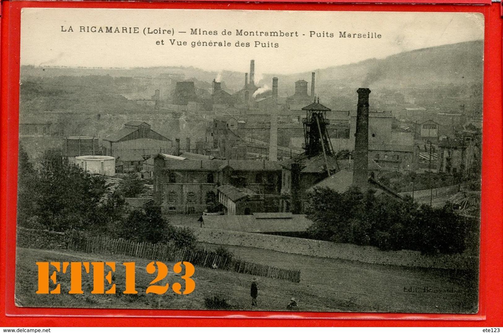 La Ricamarie Mines De Montrambert Puits Marseille Et Vue Général Des Puits - 42 Loire - France