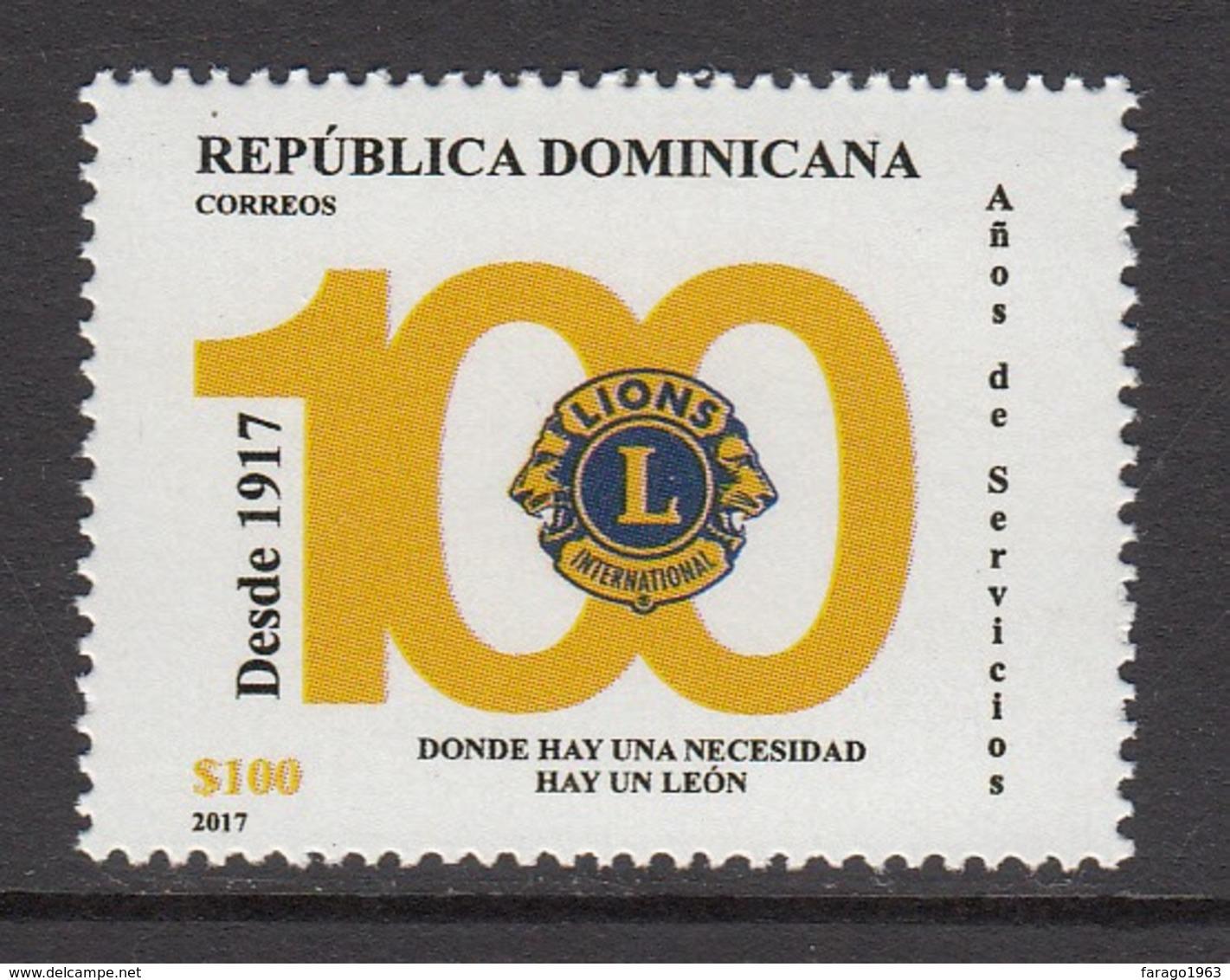 2017 Dominican Republic Dominicana Lions International Complete Set Of 1   MNH - Dominicaanse Republiek