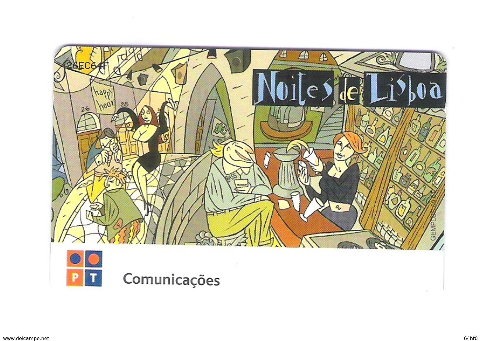 "SERIE OF 4 CHIPCARD PORTUGAL ""NOITES DE LISBOA""  EX: 3.000 - MINT/SEALED - Portugal"