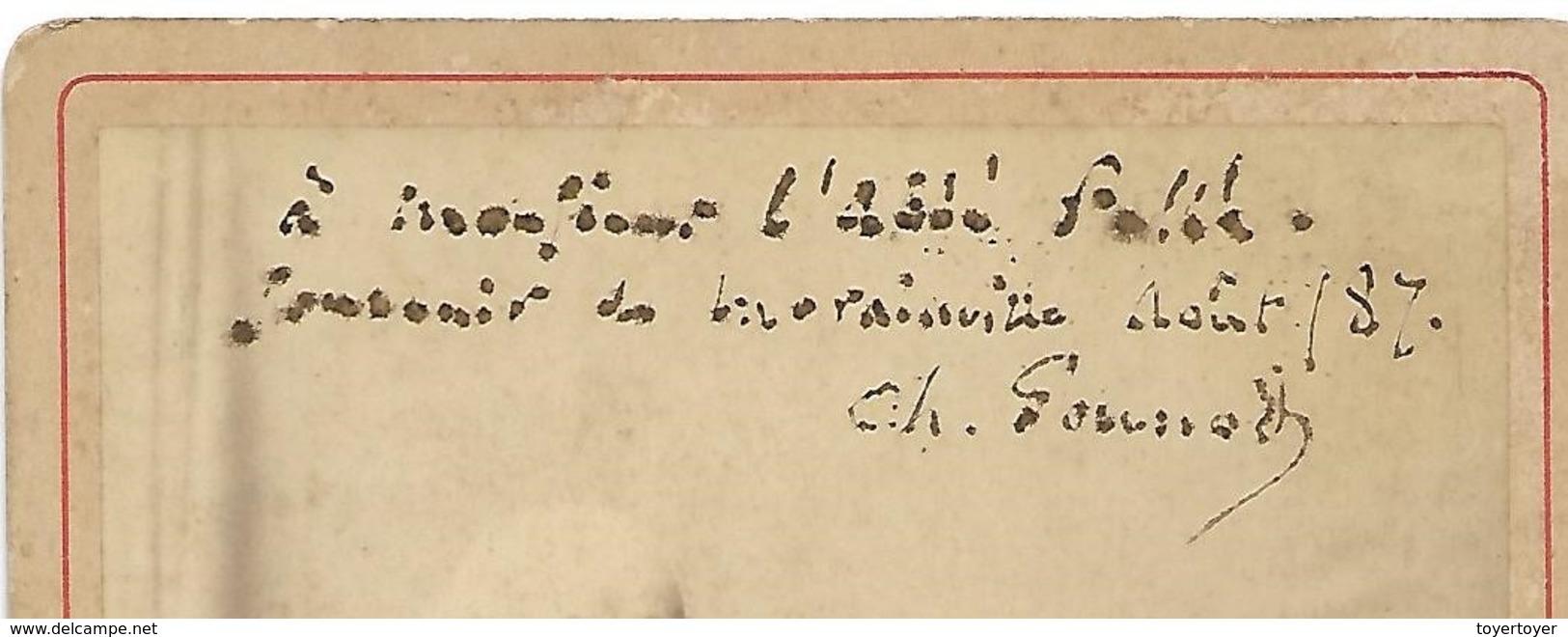 P166 Photo Ancienne Du Pianiste Ch. Gounod Dédicacée En Août 1887 à L'Abbé Pellé - Alte (vor 1900)