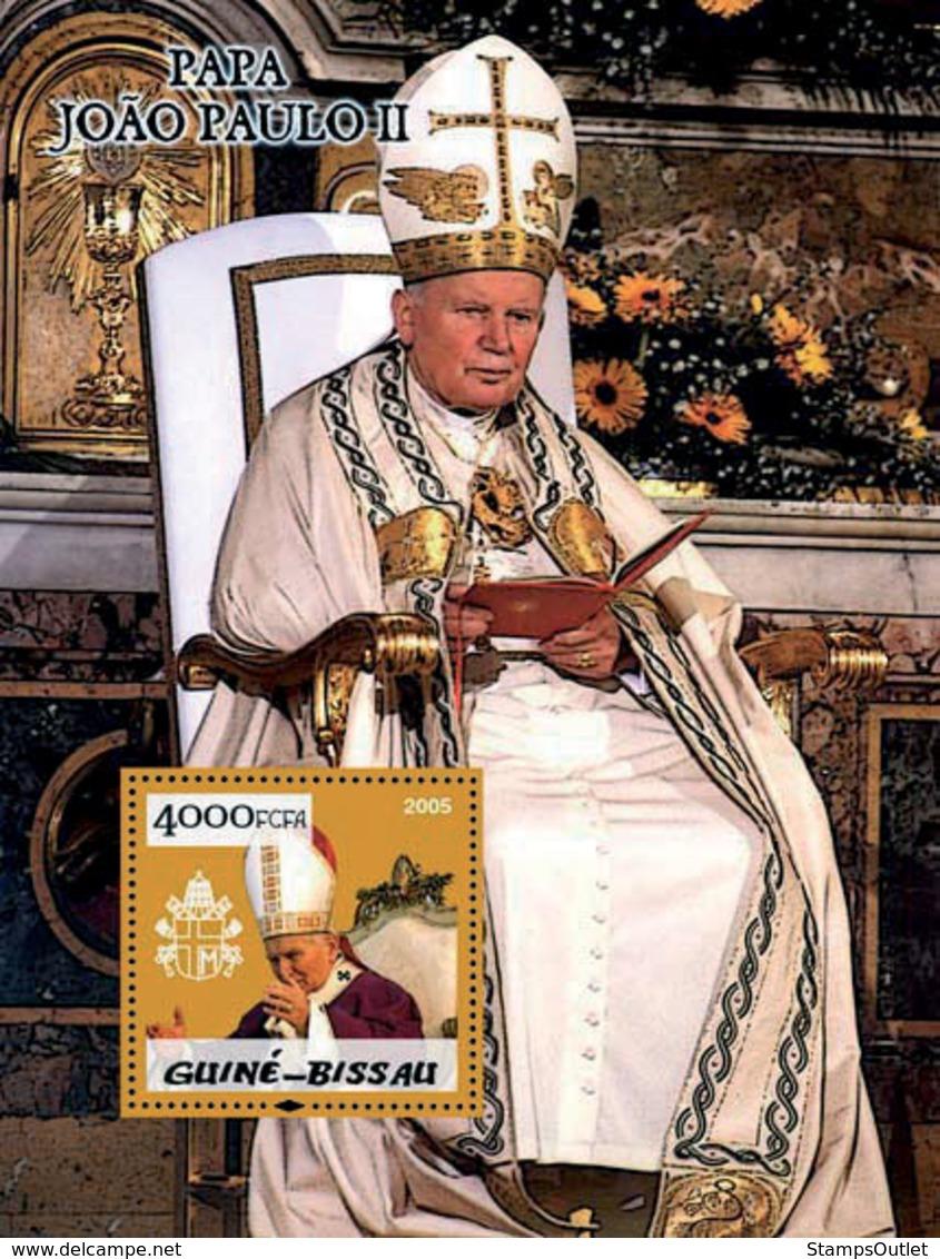Guinea - Bissau 2005 - Pope John Paul II S/s, Y&T 240, Michel 2995/BL500 - Guinea-Bissau