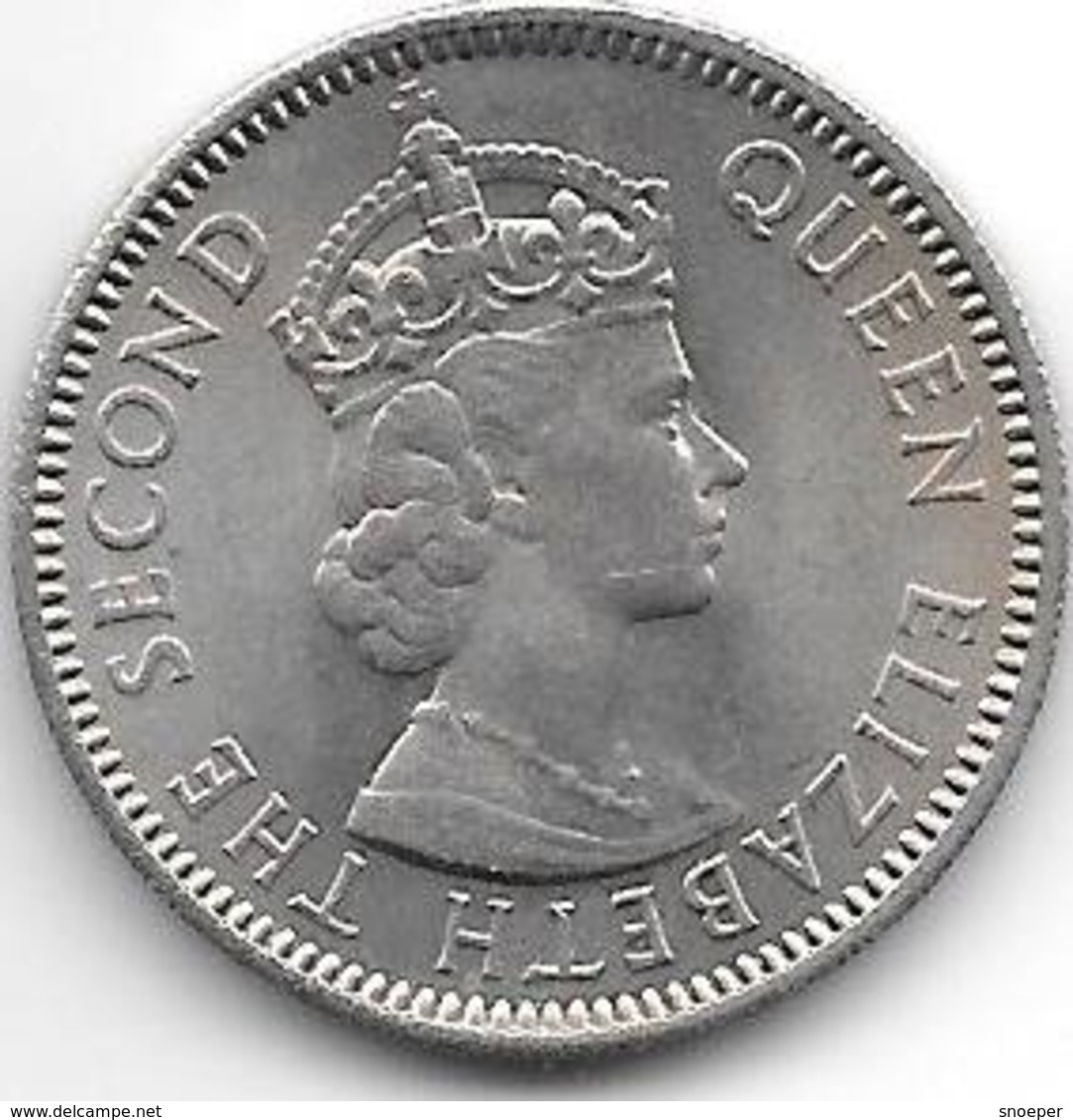 *east Caribbian States 25 Cents 1955 Km  6 Xf+ - East Caribbean States