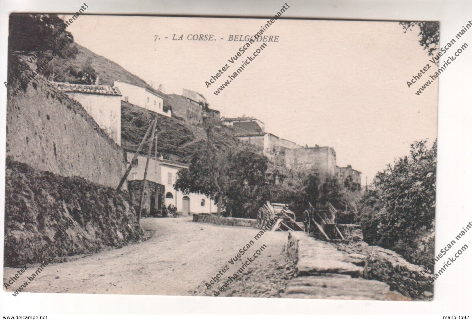 Lot De 5 CPA BELGODERE (20B) : Quartier Ladiola, Route De Calvi à Corte (Balagna), Vue Et Centre Du Village - France