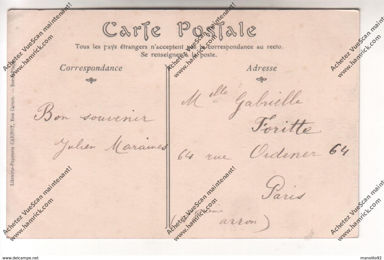 CPA Animée BERCK PLAGE (62) : La Rue De L'Impératrice (hôtel Restaurant De L'Univers, Pharmacie, Rayons X Radiographie) - Berck