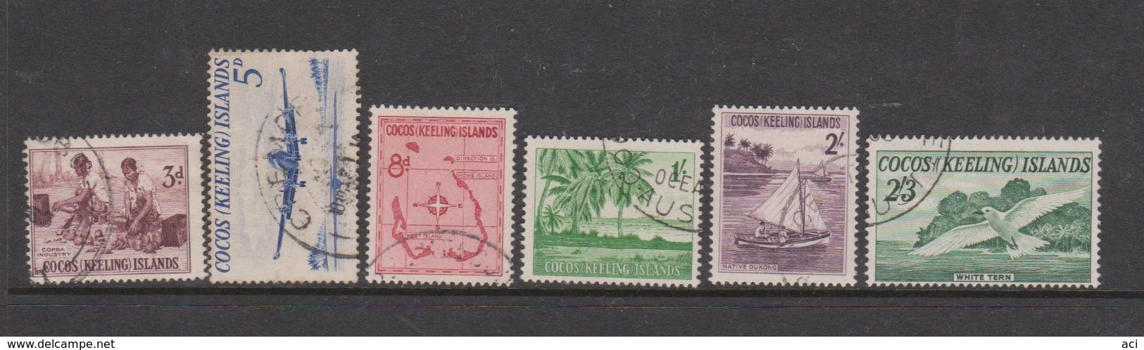 Cocos Keeling Islands SG 1-6 1963 Definitives,used, - Cocos (Keeling) Islands
