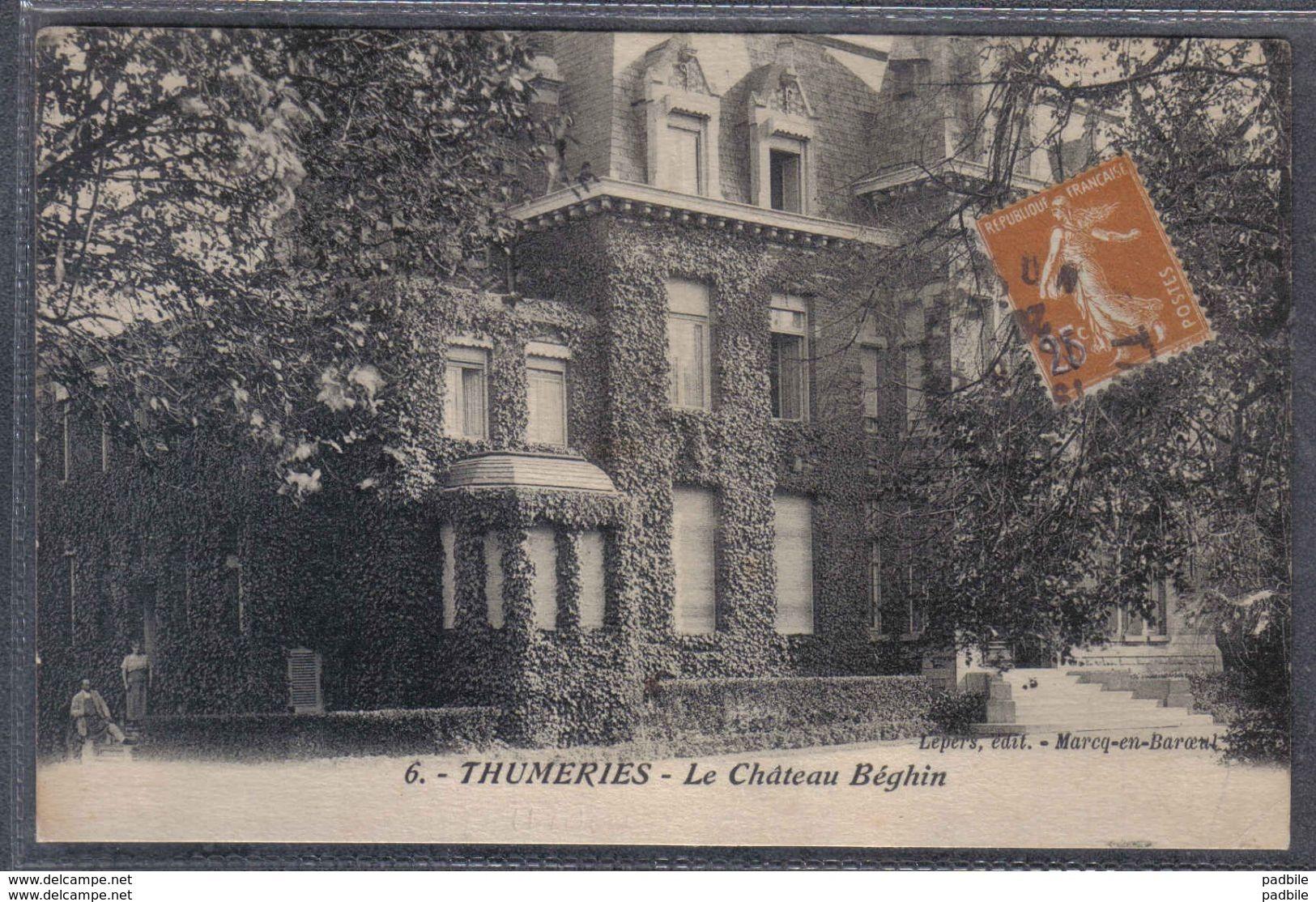 Carte Postale 59. Thumeries  La Chateau Béghin   Trés Beau Plan - France