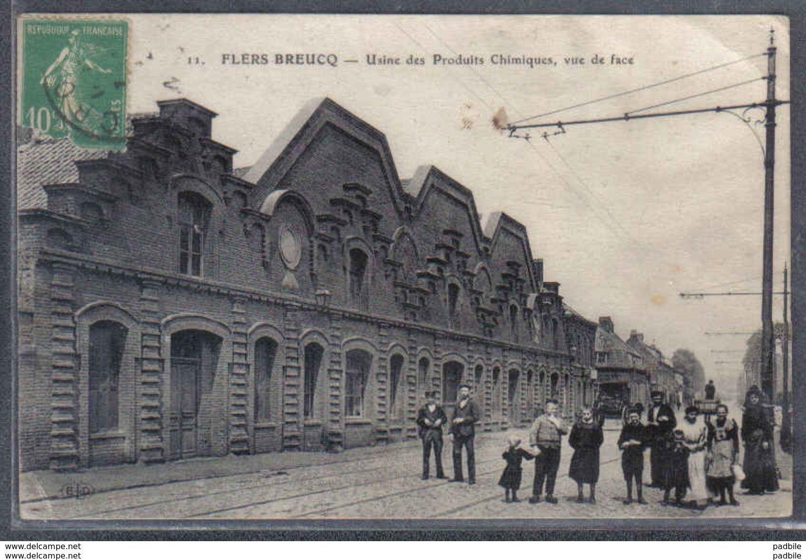 Carte Postale 59. Flers-Breucq  Usine Des Produits Chimiques   Trés Beau Plan - France