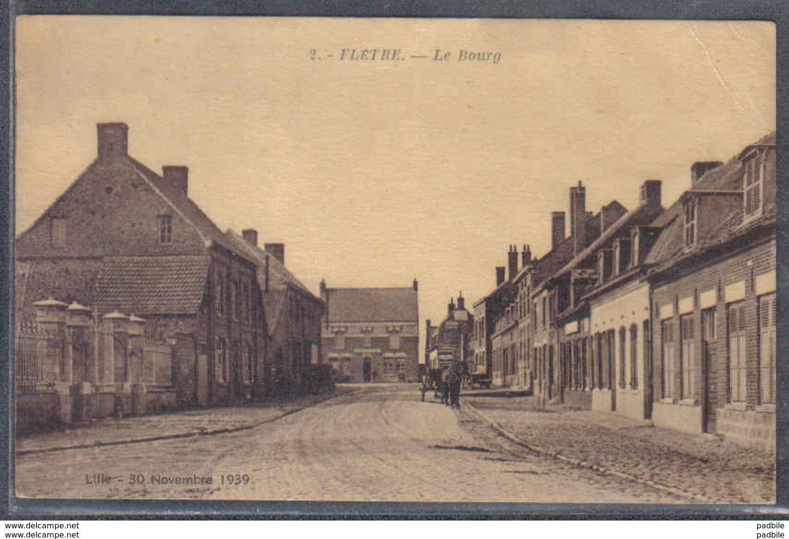 Carte Postale 59. Flètre  Le Bourg  Trés Beau Plan - Autres Communes