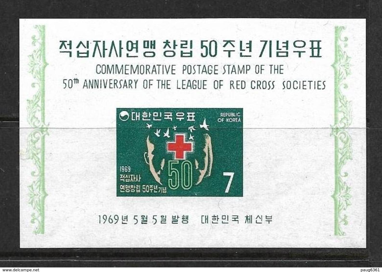 COREE DU SUD 1969 CROIX-ROUGE YVERT N°B155 NEUF MNH** - Cruz Roja