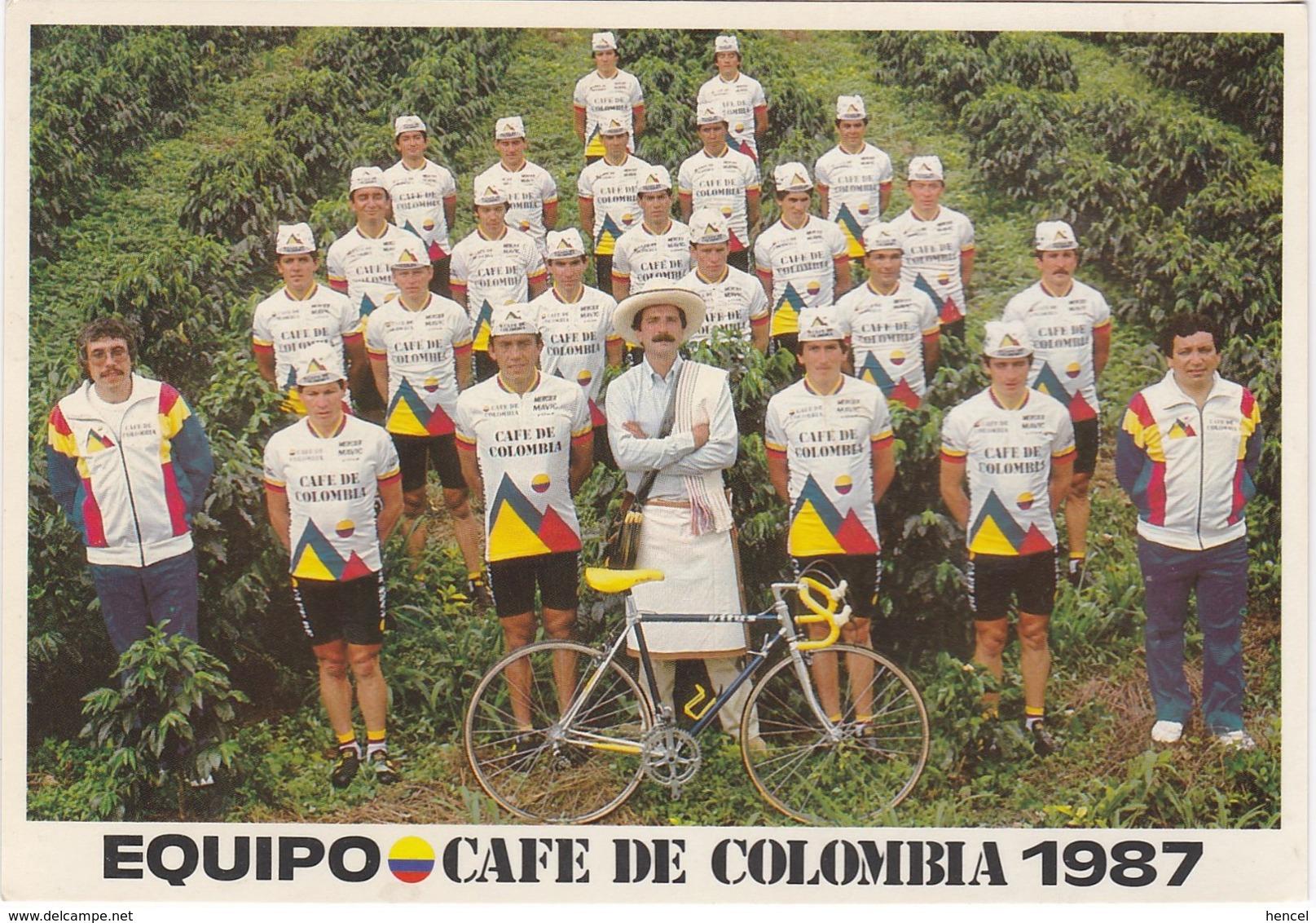 """Equipe Cycliste 1987 """"Café De Colombia"""" - Cyclisme"""