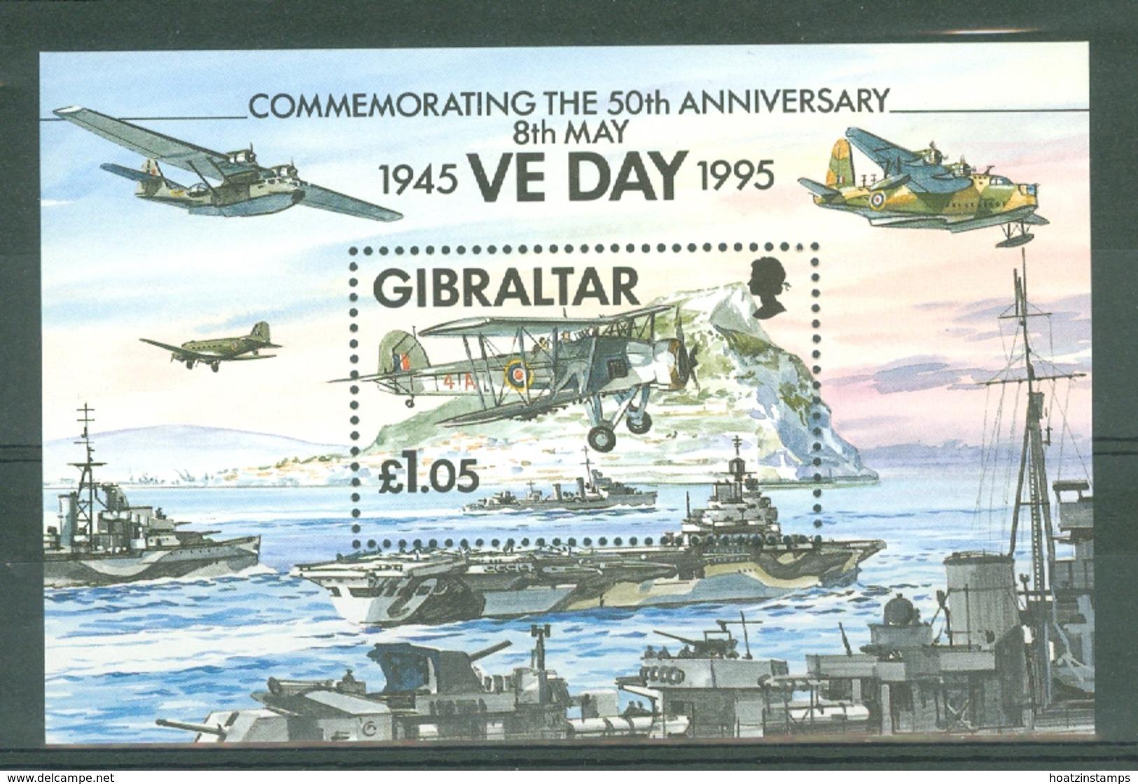 Gibraltar: 1995   50th Anniv Of End Of WW II  M/S  MNH - Gibilterra
