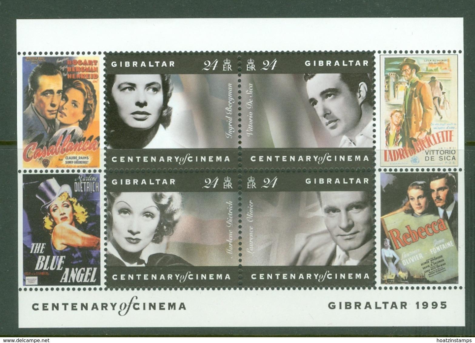 Gibraltar: 1995   Centenary Of Cinema  M/S (x2) MNH - Gibilterra