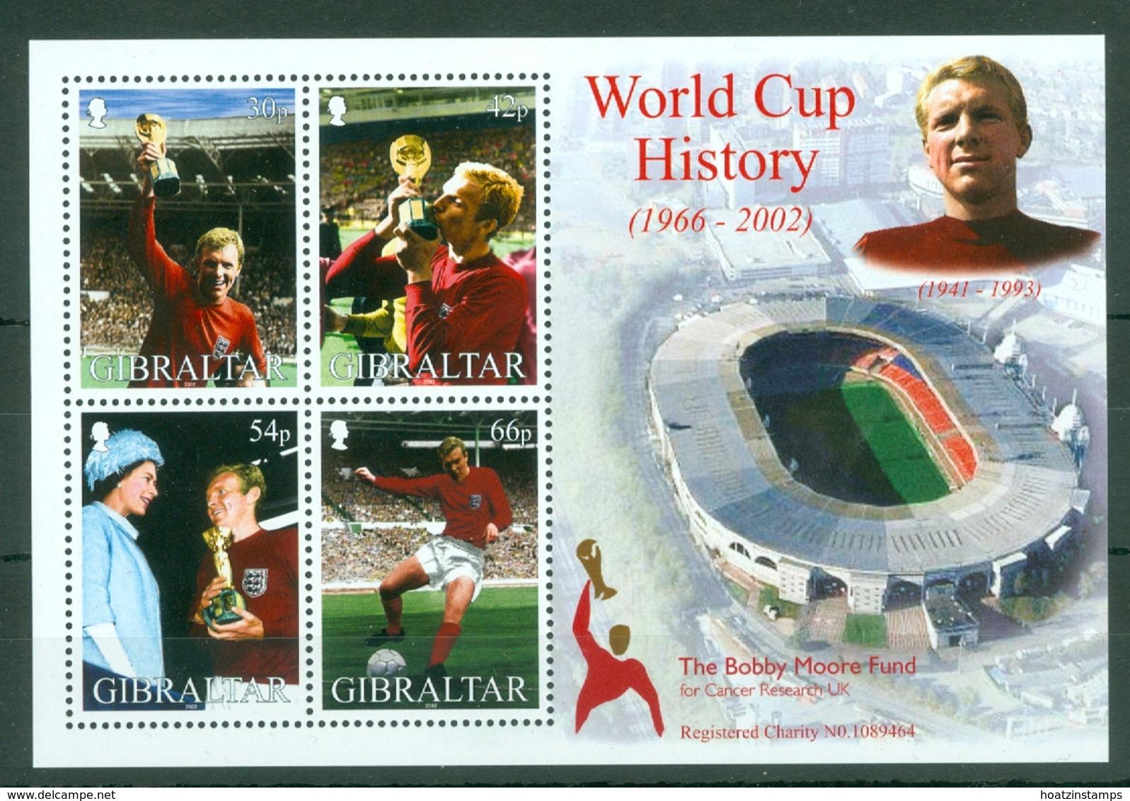 Gibraltar: 2002   World Cup Soccer, Japan  M/S  MNH - Gibraltar