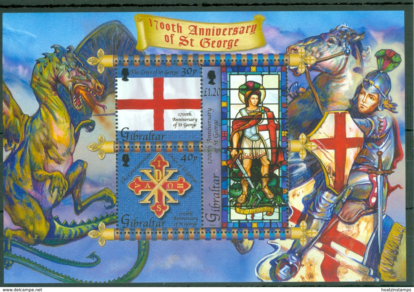 Gibraltar: 2003   1700th Death Anniv Of St George  M/S   MNH - Gibilterra
