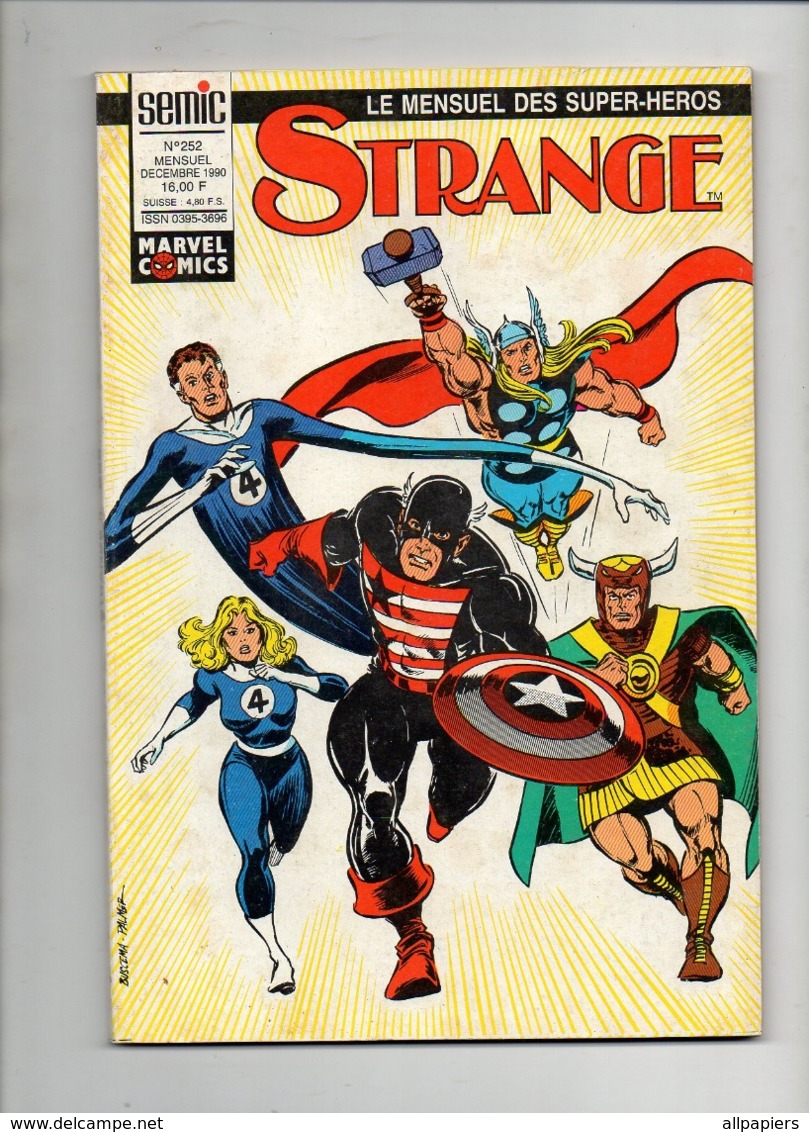 Strange N°252L'araignée- Iron Man - Les Vengeurs De 1990 - Strange