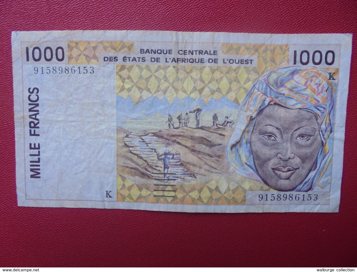 AFRIQUE De L'OUEST 1000 FRANCS 1991-2003 CIRCULER (B.8) - West-Afrikaanse Staten