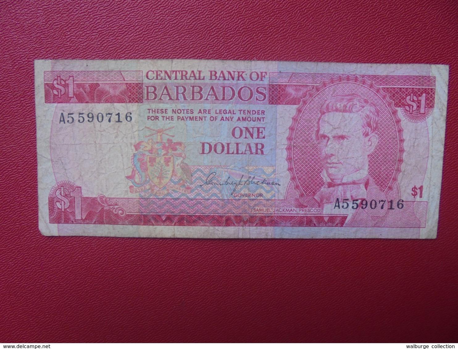 BARBADES 1$ 1973 CIRCULER (B.8) - Barbados