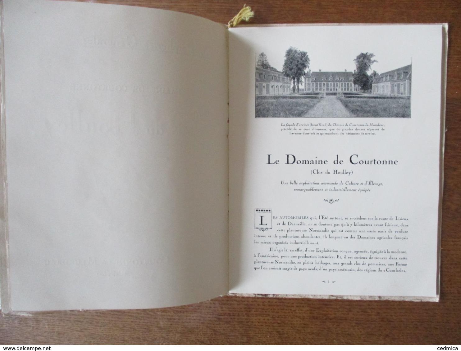 """COURTONNE-LA-MEURDRAC """"CLOS DU HOULLEY"""" EXPLOITATION NORMANDE DE CULTURE ET D'ELEVAGE PORCS,VACHES,LAITERIE FROMAGERIE C - Normandie"""