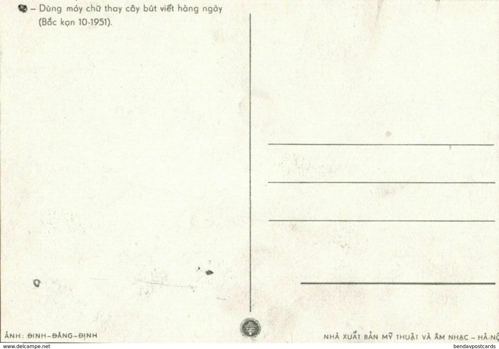 Vietnamese Communist Revolutionary Leader Ho Chi Minh (1951) Postcard - Viêt-Nam