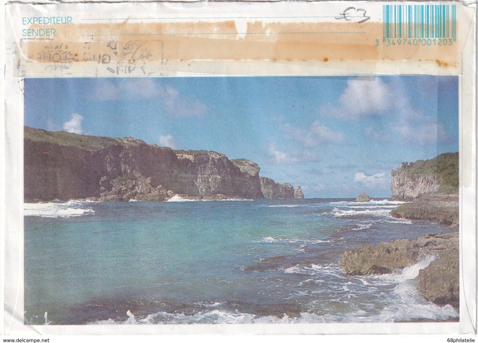 GUADELOUPE 1992 LETTRE DE POINTE A PITRE - Marcophilie (Lettres)