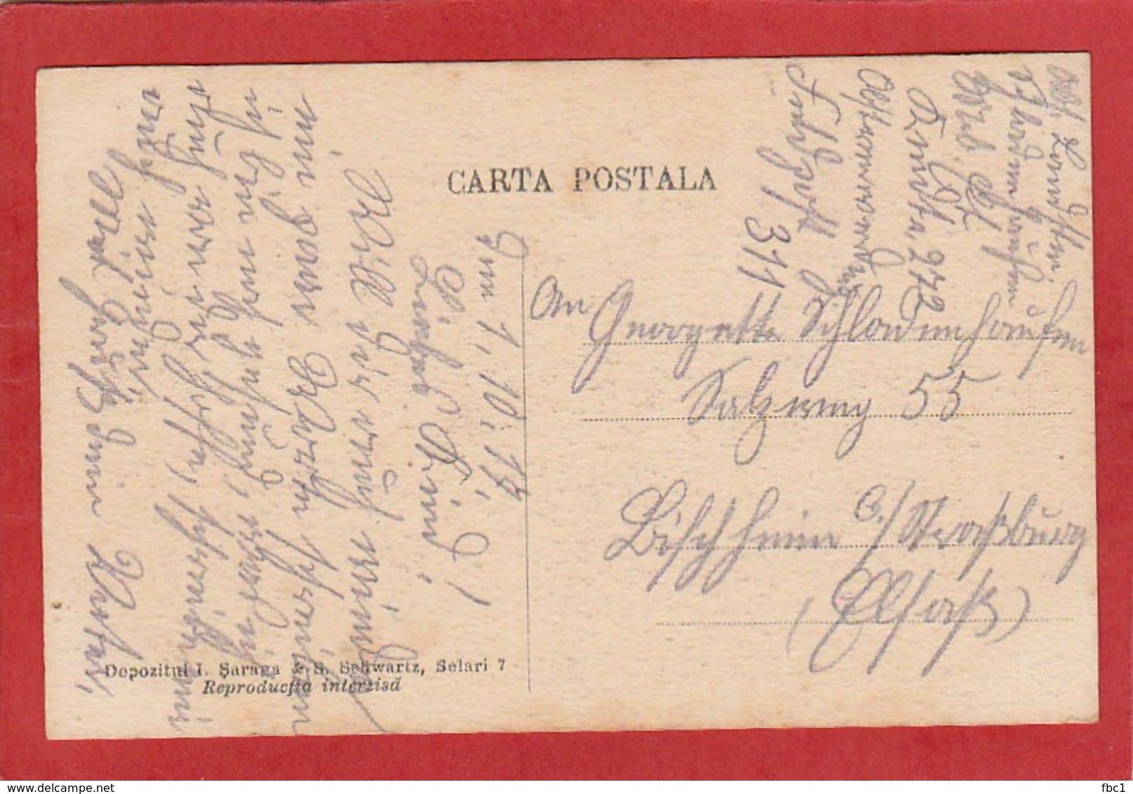 CPA: Roumanie - Port National -rumanische Volkstracht - Roumanie