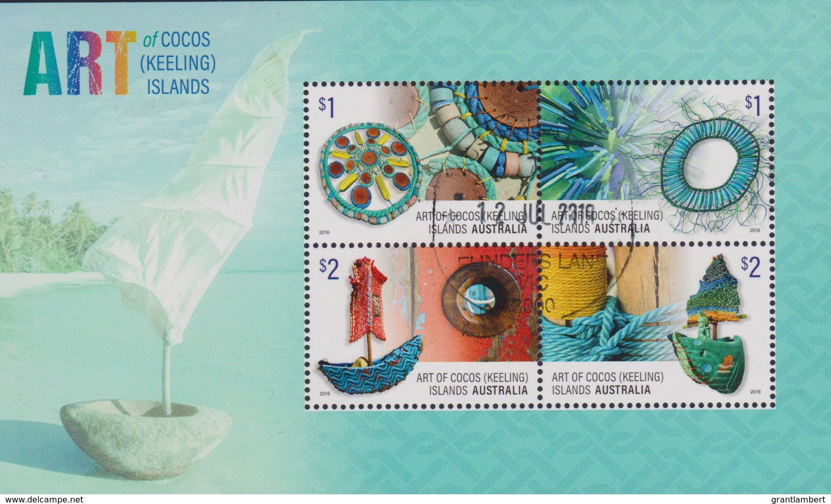 Cocos Islands 2016 Art Minisheet CTO - Cocos (Keeling) Islands