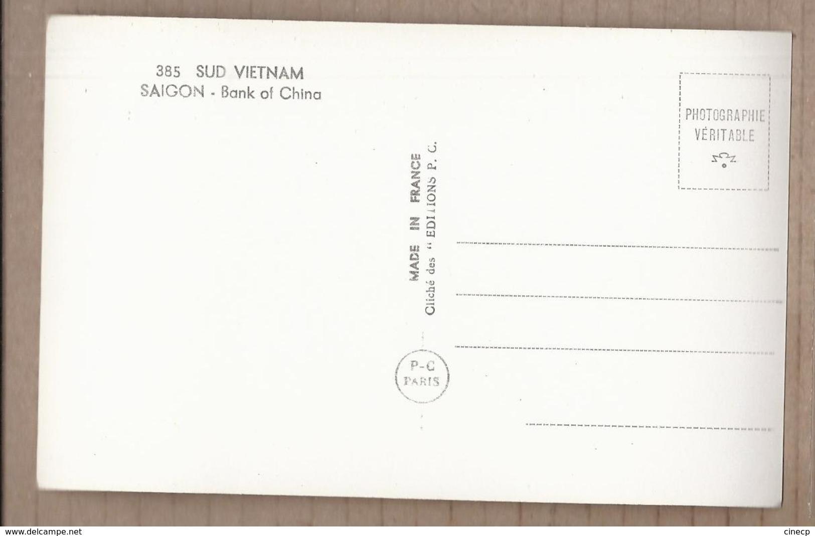 CPSM VIETNAM - INDOCHINE - SUD VIETNAM SAIGON - Bank Of China - CHINE - TB PLAN BANQUE ANIMATION - Viêt-Nam