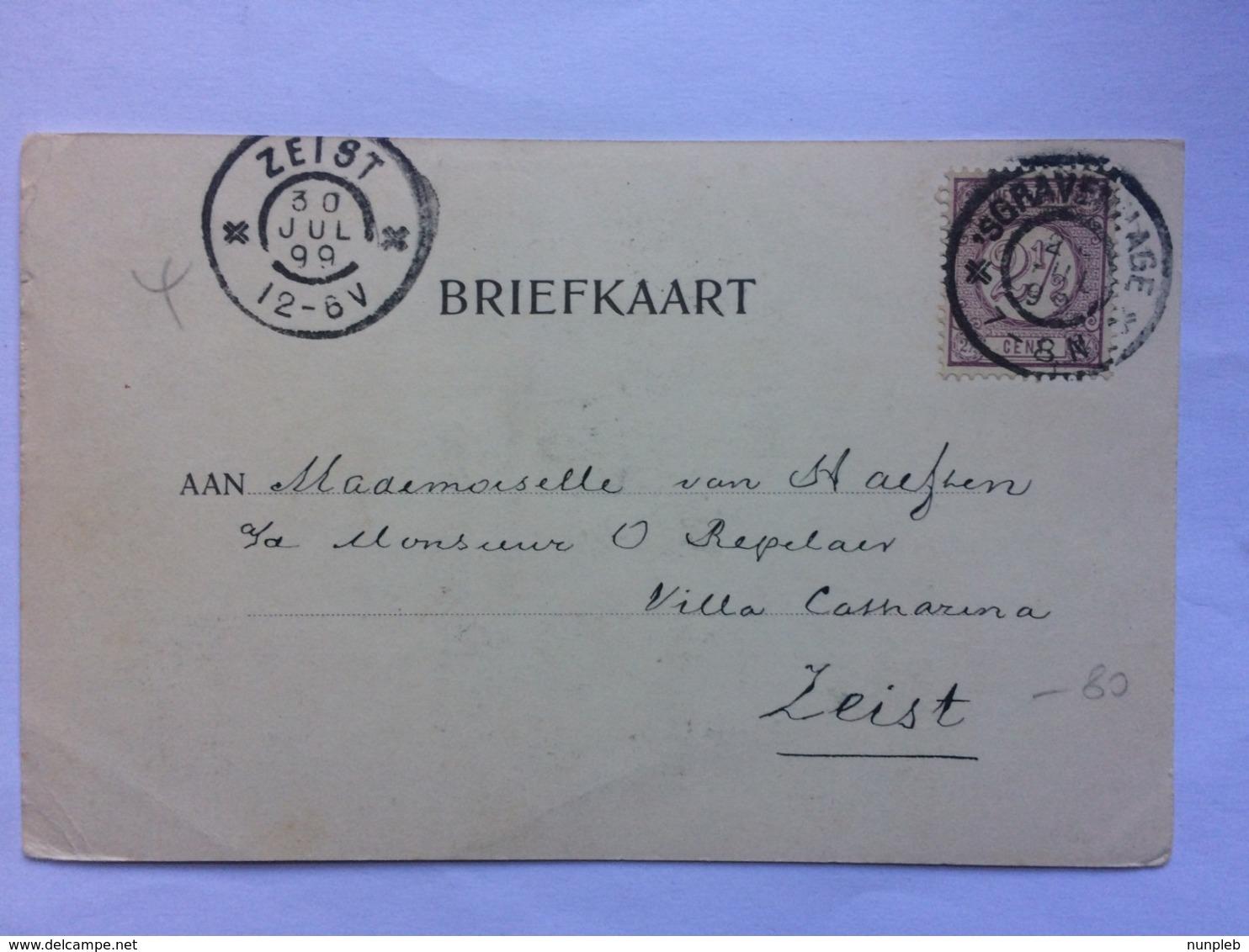 NETHERLANDS - Gravenhage - The Hague - Oranje Zaal - Huis Ten Bosch - 1899 - Den Haag ('s-Gravenhage)