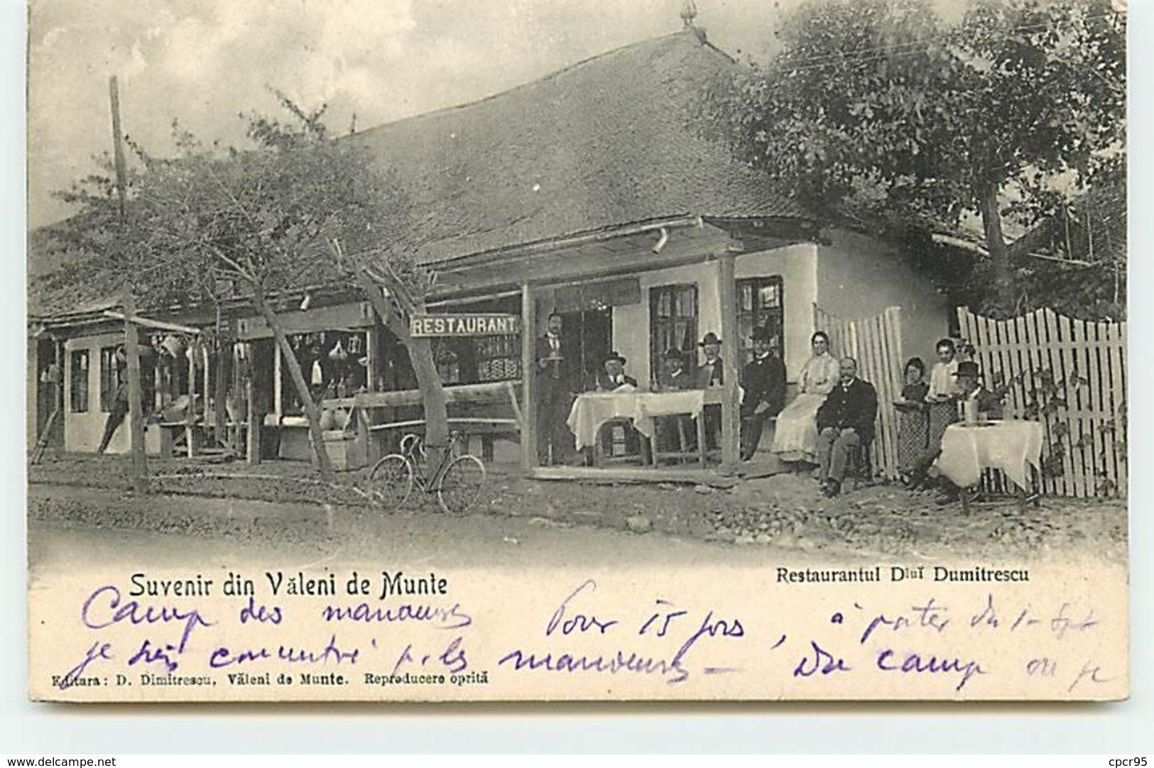 Roumanie - N°60901 - Suvenir Din Väleni De Munte - Restaurantul Dlui Dumitrescu - Roumanie