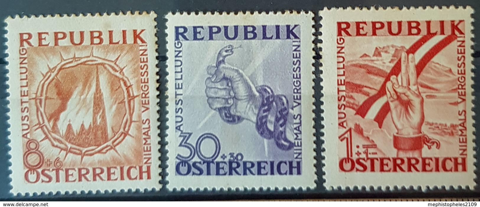 AUSTRIA 1946 - MLH - ANK 786, 788, 790 - Antifa - 1945-60 Oblitérés