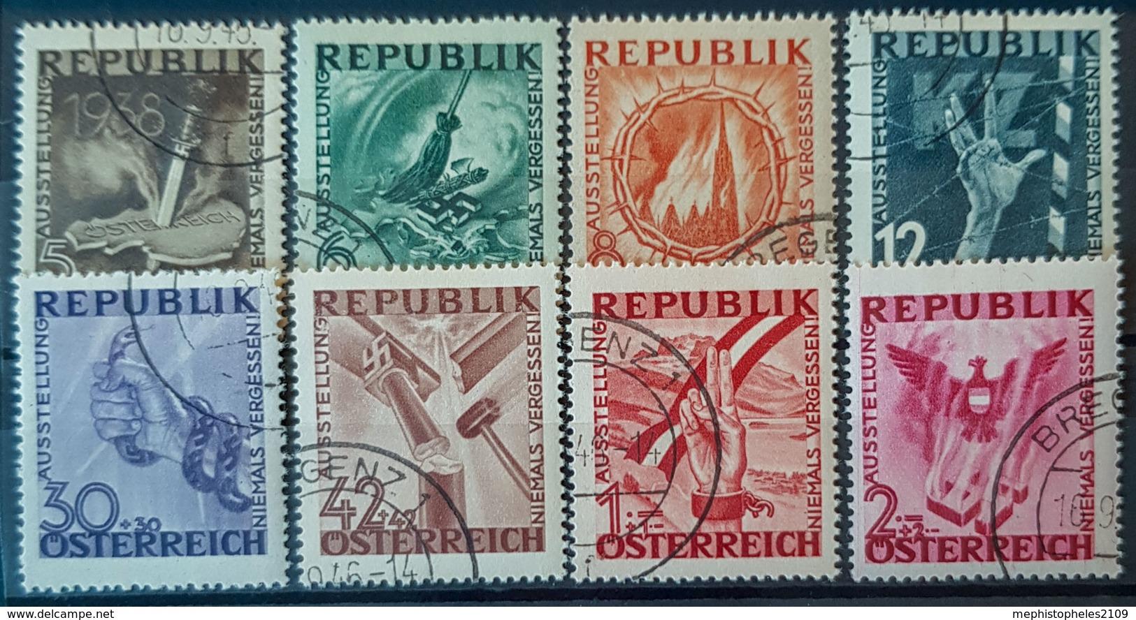 AUSTRIA 1946 - Canceled - ANK 784-791 - Antifa - 1945-60 Oblitérés