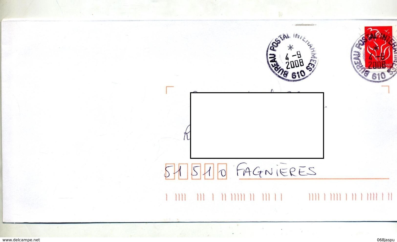 Lettre Flamme Cachet Bureau Postal Militaire 610 - Marcophilie (Lettres)