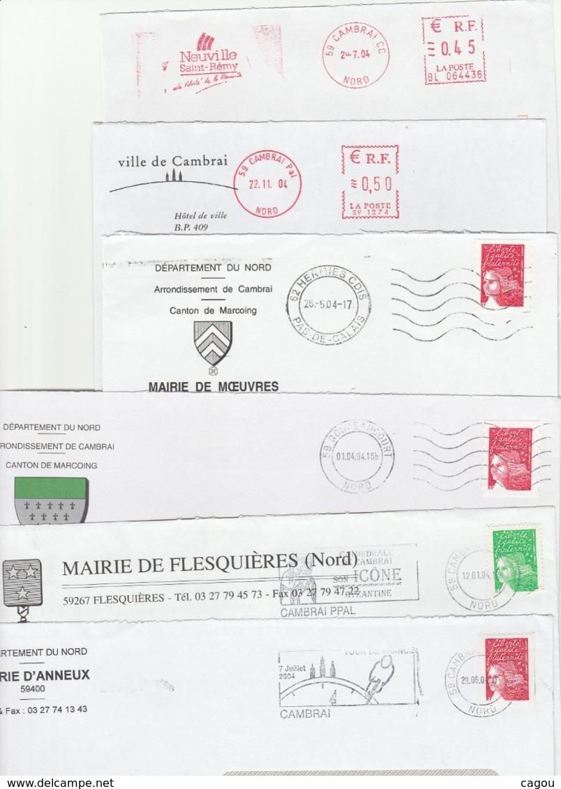 LOT ENVELOPPES ENTIERES DE MAIRIE TOUT FORMATS  - A ETUDIER ! - Marcophilie (Lettres)