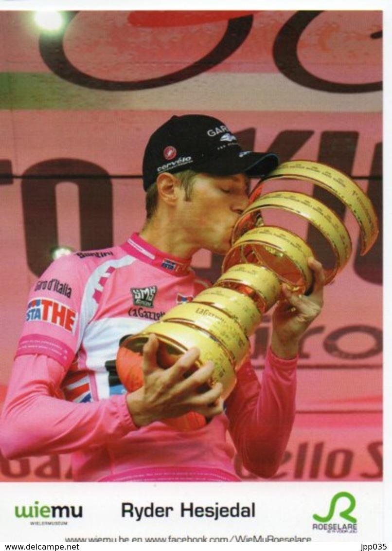 CYCLISME TOUR  DE  FRANCE RYDER HESJEDAL EN MAILLOT ROSE - Cyclisme