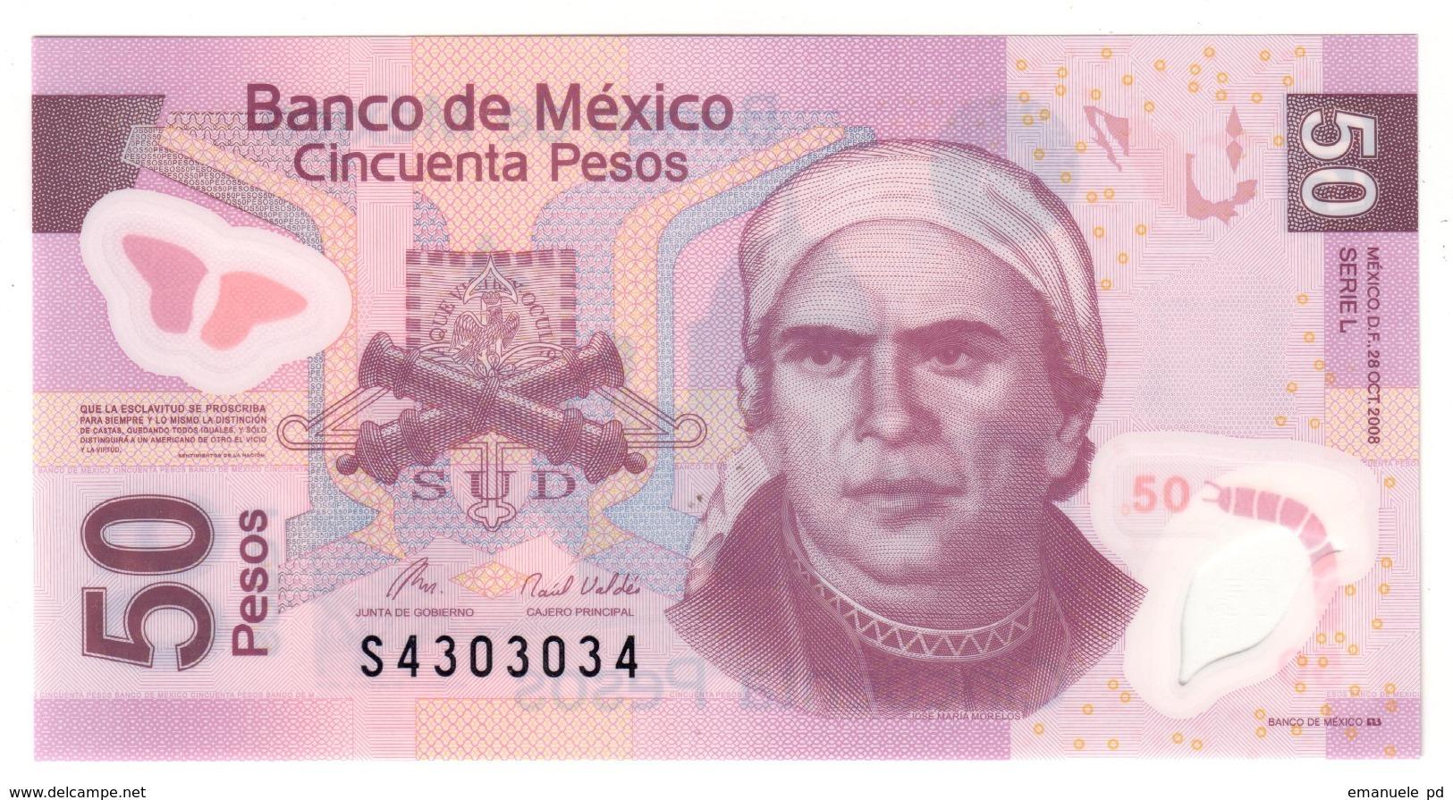 Mexico 50 Pesos 28/10/2008 UNC .PL. - Mexico