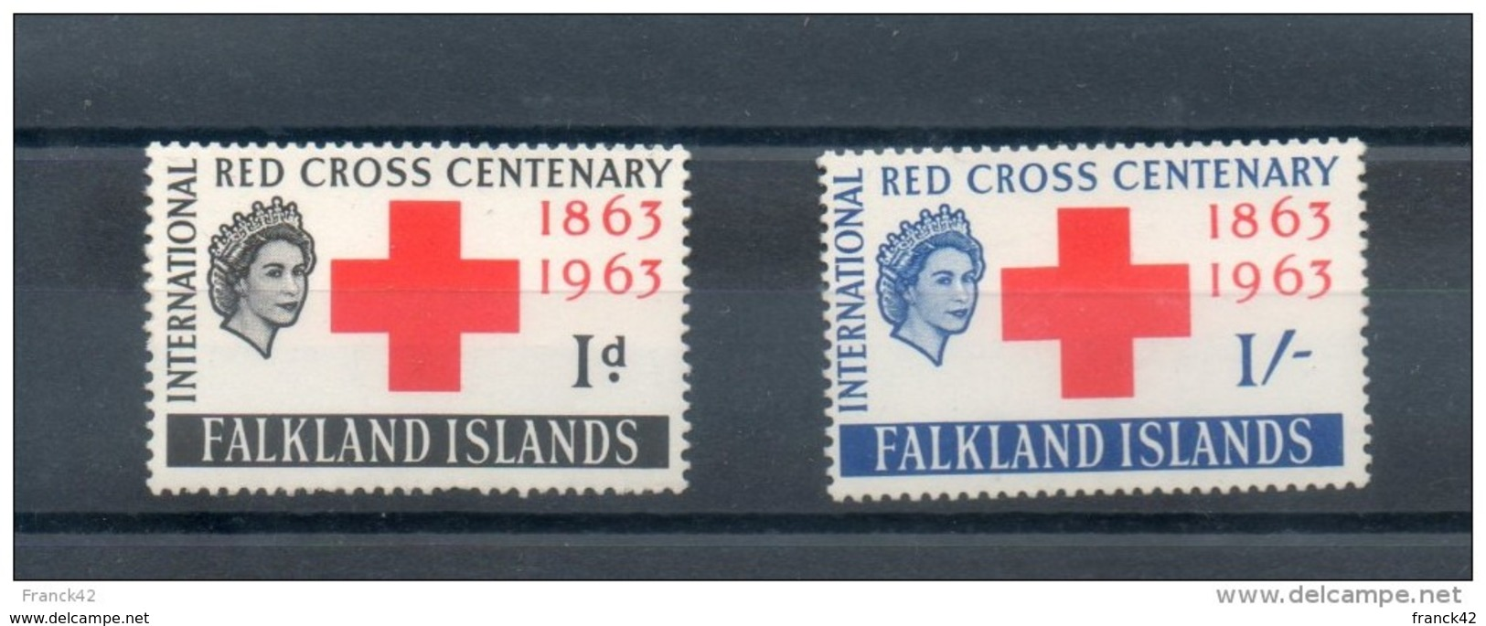 Falkland. Centenaire De La Croix Rouge - Falkland