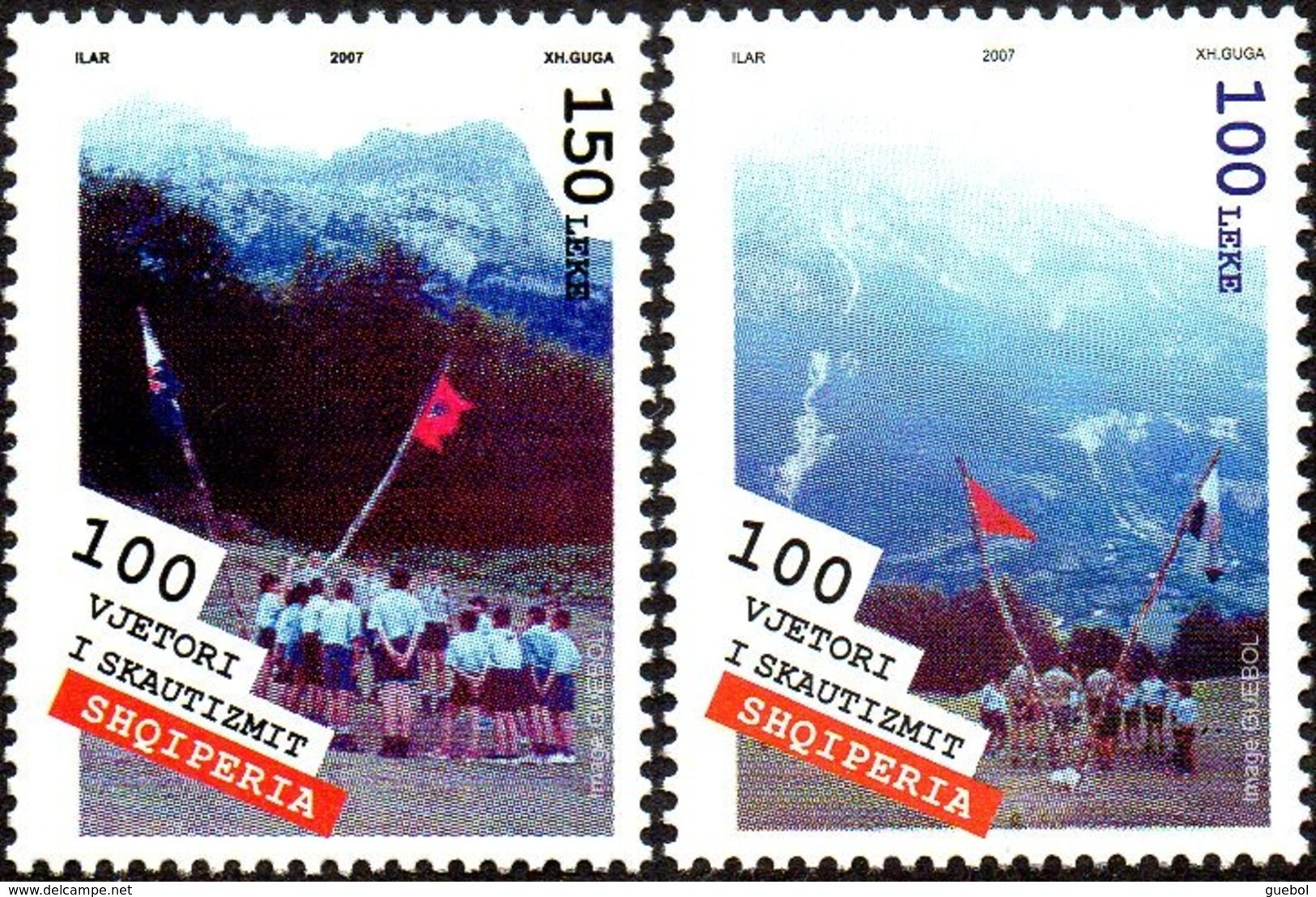 CEPT / Europa 2007 Albanie N° 2834 Et 2835 ** Le Scoutisme - Enfants - Europa-CEPT