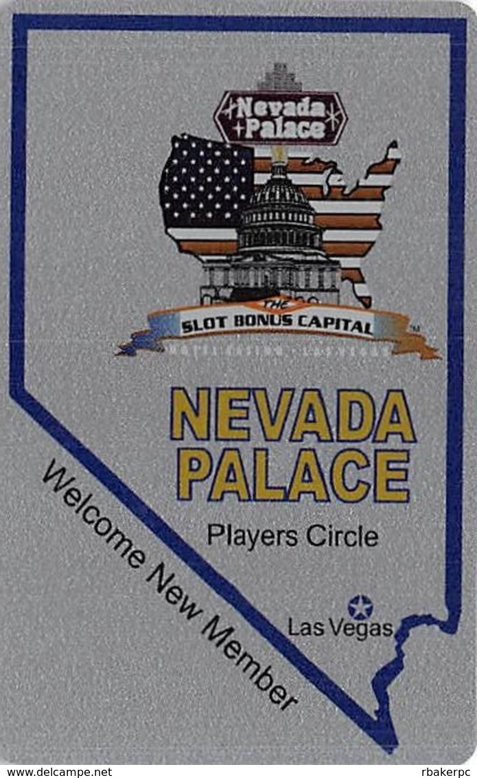 Nevada Palace Casino Las Vegas - Blank Slot Card & No Punches - Casino Cards