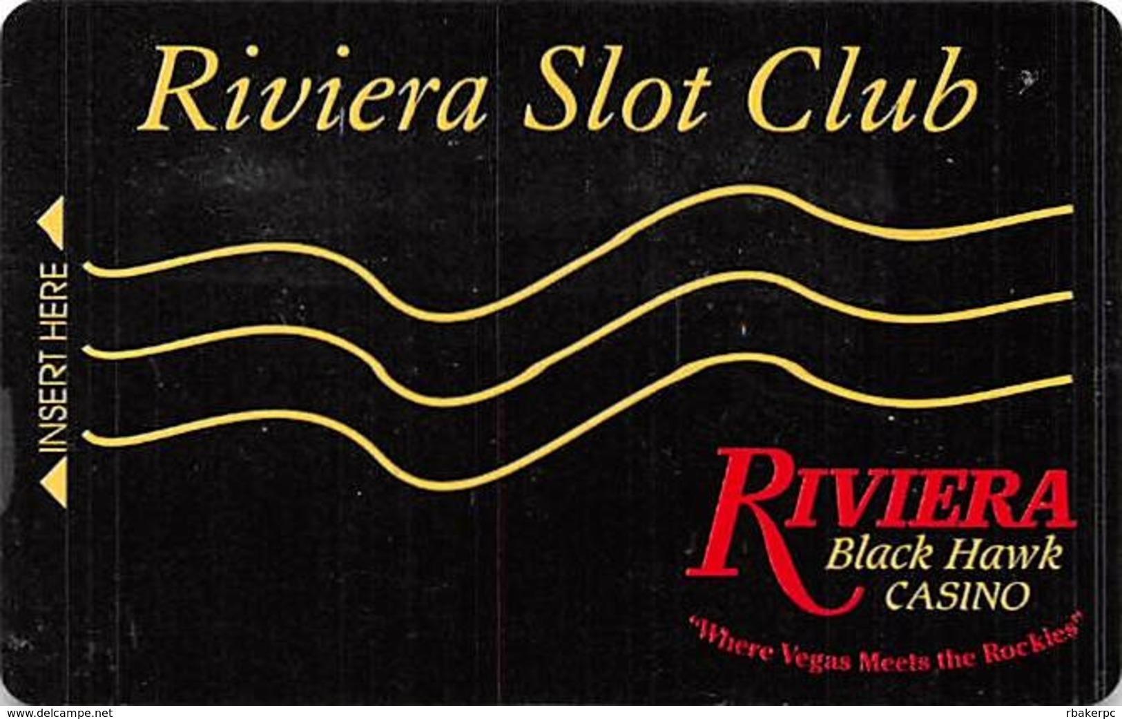 Riviera Casino - Black Hawk CO - BLANK 1st Issue Slot Card W/Signature Strip - Casino Cards