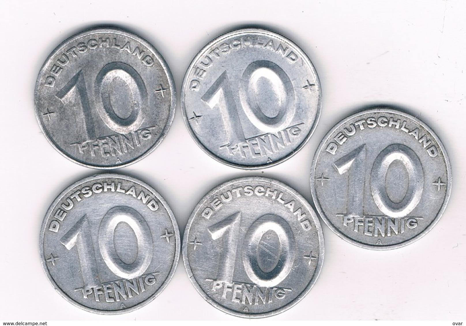 10 PFENNIG LOT DDR DUITSLAND /6738/ - [ 6] 1949-1990 : RDA - Rép. Démo. Allemande