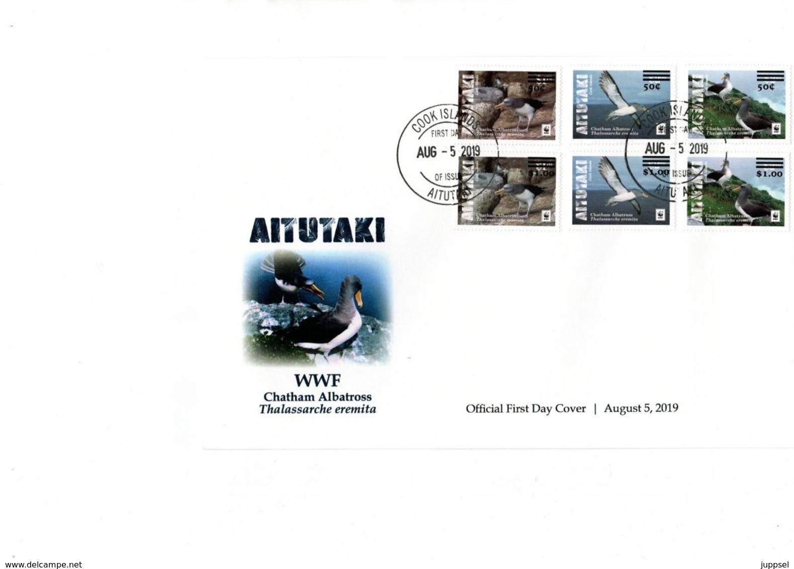 WWF  LOCAL FDC  AITUTAKI  2019, 1 Overprint Set / 1 Set Avec Surprint - Albatrosse & Sturmvögel