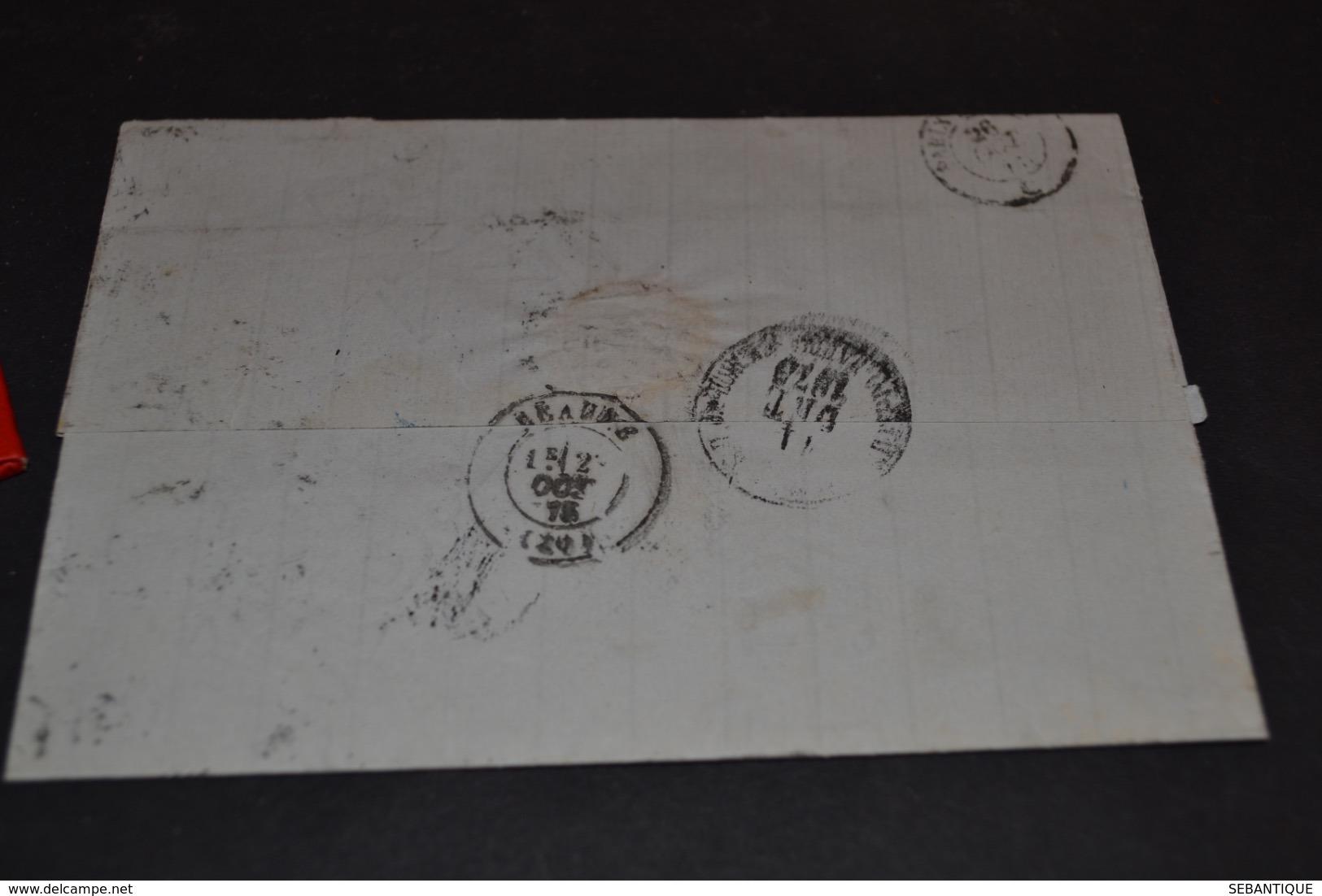 Lettre 1878 ST Petersburg Cachet Bleu Erquelines Russie Pour Beaune - 1877-1920: Période Semi Moderne