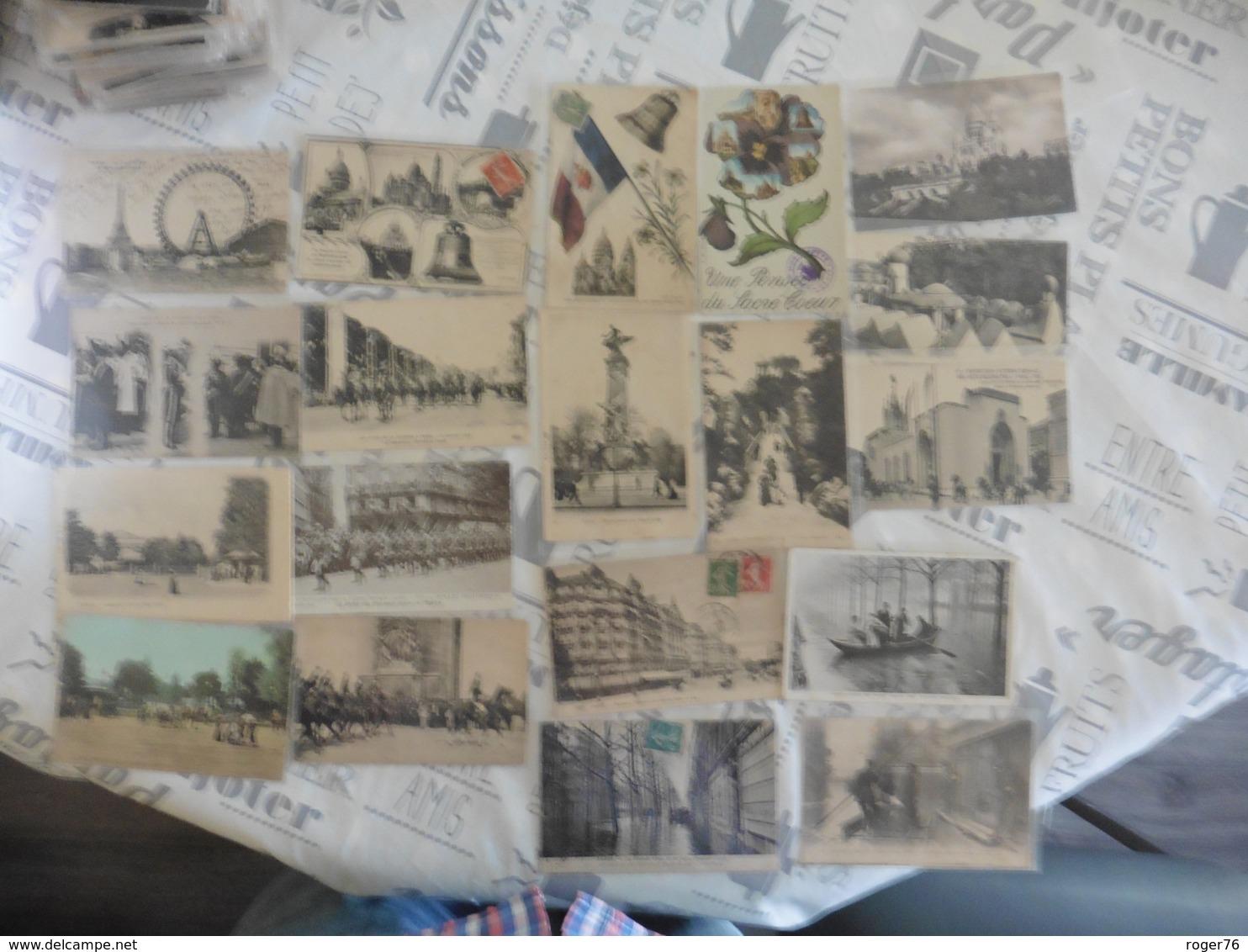 LOT  DE 4 KILOS  DE  CARTES  CPA  DE  PARIS - Cartes Postales