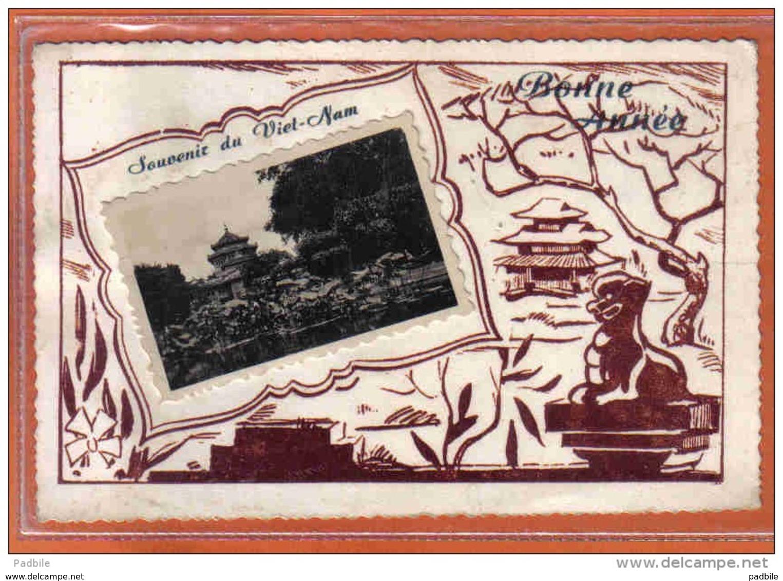 Carte Postale  Viêt-Nam  Bonne Année 1956 Trés Beau Plan - Viêt-Nam